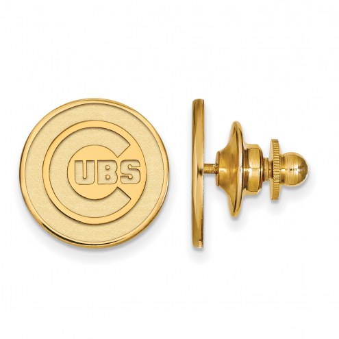 Chicago Cubs Sterling Silver Gold Plated Lapel Pin