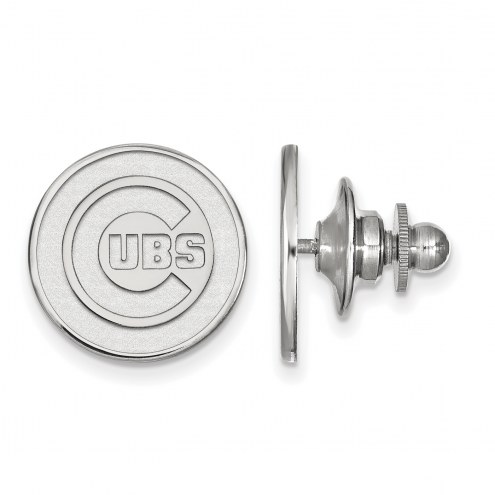 Chicago Cubs Sterling Silver Lapel Pin