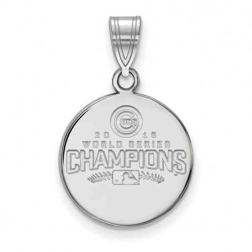 Chicago Cubs Sterling Silver Medium Disc Pendant