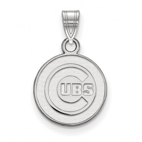 Chicago Cubs Sterling Silver Small Pendant