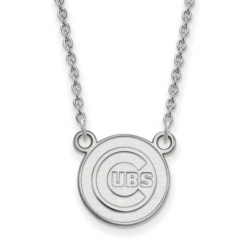 Chicago Cubs Sterling Silver Small Pendant Necklace