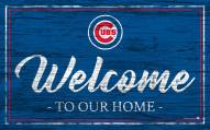 Chicago Cubs Team Color Welcome Sign