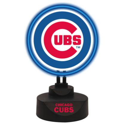 Chicago Cubs Team Logo Neon Light