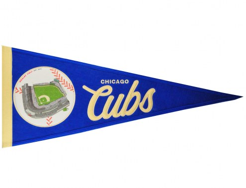Chicago Cubs Vintage Ballpark Traditions Pennant