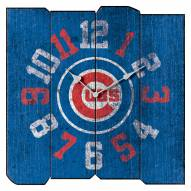 Chicago Cubs Vintage Square Clock
