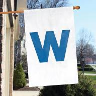 "Chicago Cubs """"W"""" Applique Banner Flag"