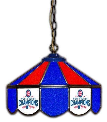 "Chicago Cubs 14"" Glass Pub Lamp"