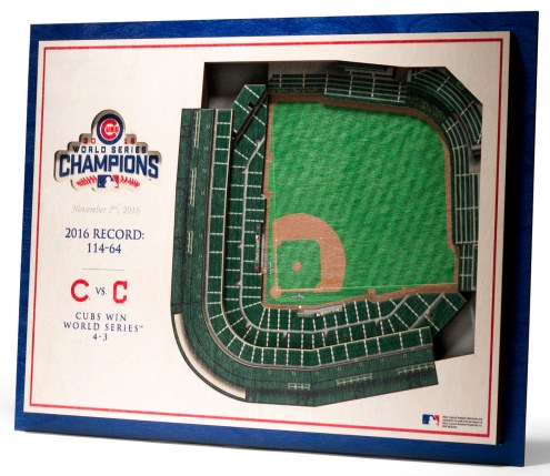 Chicago Cubs World Series 5-Layer StadiumViews 3D Wall Art