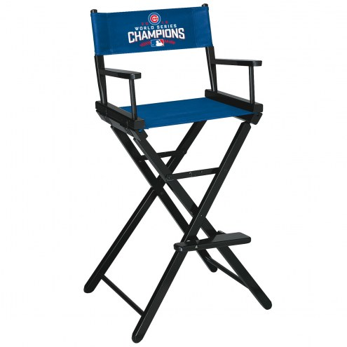 Chicago Cubs World Series Bar Height Director's Chair