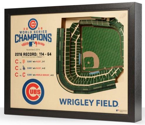 Chicago Cubs World Series 25-Layer StadiumViews 3D Wall Art