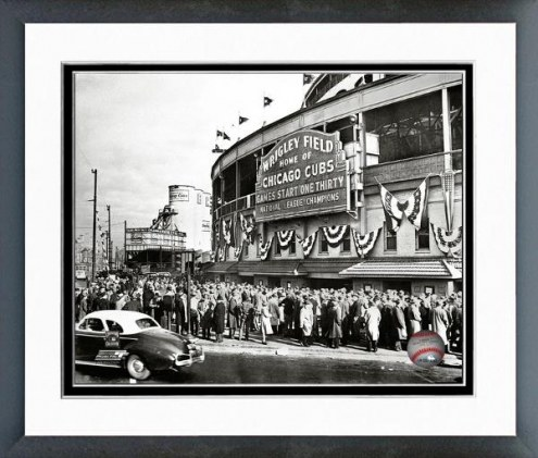 Chicago Cubs Wrigley Field 1945 Framed Photo