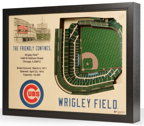 Chicago Cubs 25-Layer StadiumViews 3D Wall Art