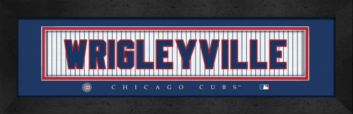 """Chicago Cubs """"Wrigleyville"""" Stitched Jersey Framed Print"""