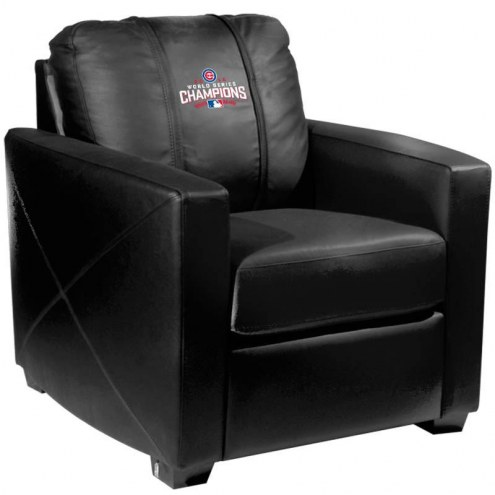 Chicago Cubs XZipit Silver Club Chair with World Series Logo