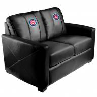 Chicago Cubs XZipit Silver Loveseat