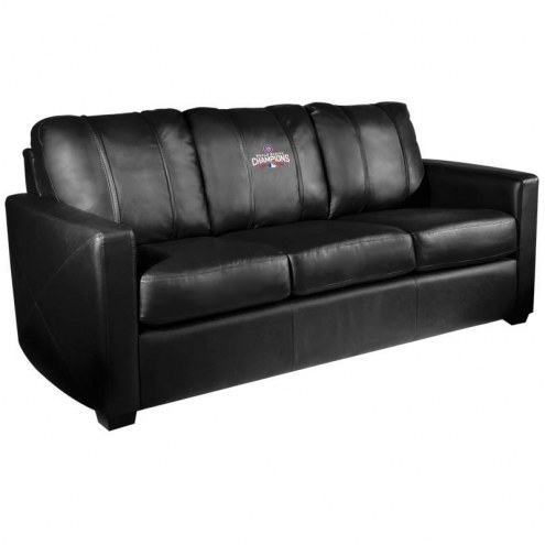 Chicago Cubs XZipit Silver Sofa with World Series Logo