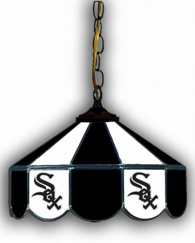 "Chicago White Sox 14"" Glass Pub Lamp"