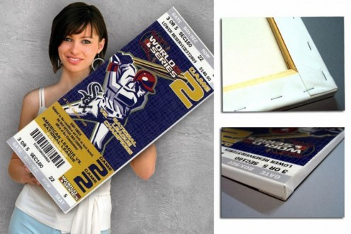 Chicago White Sox 2005 World Series Mega Ticket Canvas Art