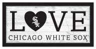 "Chicago White Sox 6"" x 12"" Love Sign"