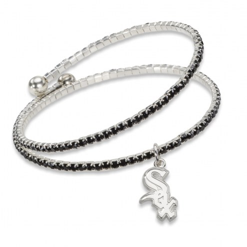 Chicago White Sox Amped Logo Crystal Bracelet