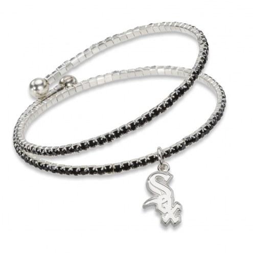 Chicago White Sox Amped Logo Crystal Bracelet