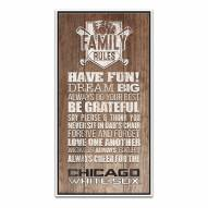 Chicago White Sox Family Rules Icon Wood Framed Printed Canvas