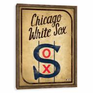 Chicago White Sox Vintage Card Recessed Box Wall Decor