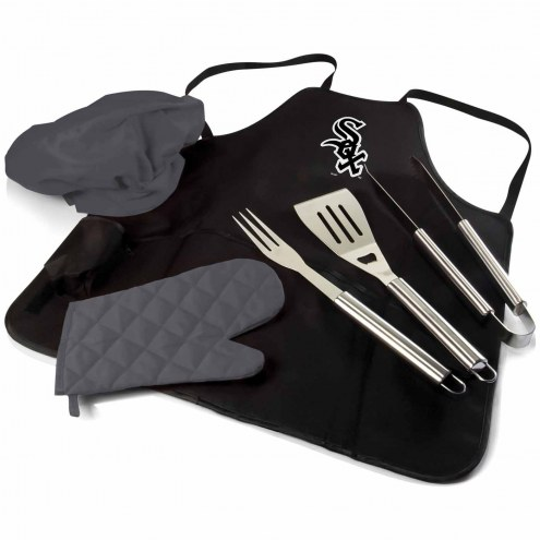 Chicago White Sox BBQ Apron Tote Set