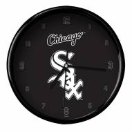 Chicago White Sox Black Rim Clock