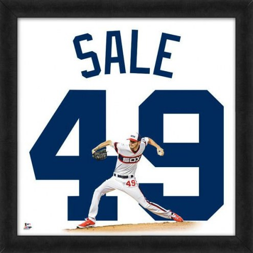 Chicago White Sox Chris Sale Uniframe Framed Jersey Photo