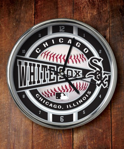 Chicago White Sox Chrome Wall Clock