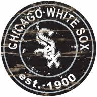 Chicago White Sox Distressed Round Sign