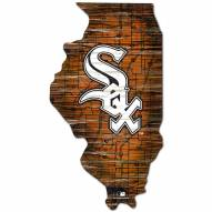 Chicago White Sox Distressed State with Logo Sign