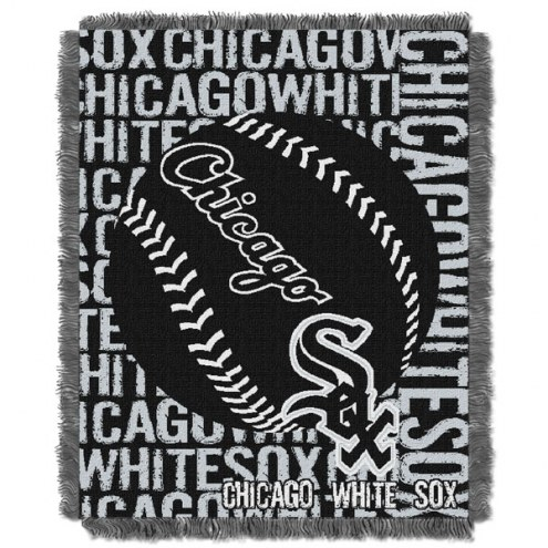 Chicago White Sox Double Play Jacquard Throw Blanket