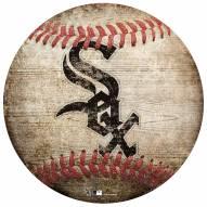 Chicago White Sox Baseball Shaped Sign