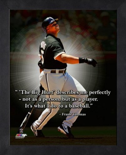 Chicago White Sox Frank Thomas Framed Pro Quote