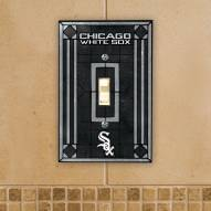 Chicago White Sox Glass Single Light Switch Plate Cover