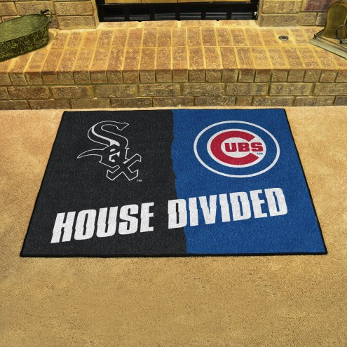 Chicago White Sox/Chicago Cubs House Divided Mat