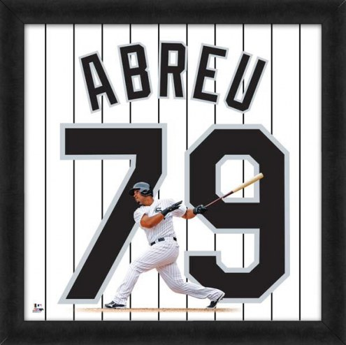 Chicago White Sox Jose Abreu Uniframe Framed Jersey Photo