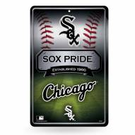 Chicago White Sox Large Embossed Metal Wall Sign