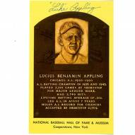 Chicago White Sox Luke Appling Signed Yellow Baseball Hall of Fame Plaque Card