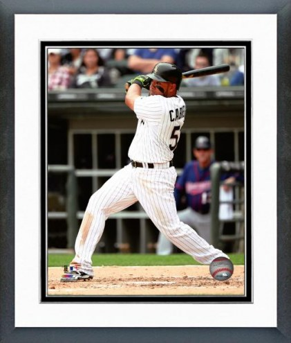 Chicago White Sox Melky Cabrera Action Framed Photo