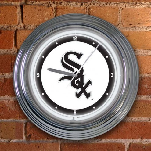 Chicago White Sox MLB Neon Wall Clock