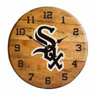 Chicago White Sox Oak Barrel Clock
