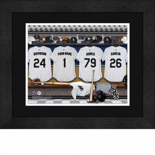 Chicago White Sox Personalized Locker Room 13 x 16 Framed Photograph