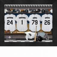 Chicago White Sox  Personalized Locker Room 11 x 14 Framed Photograph