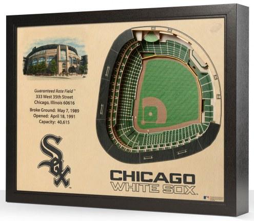 Chicago White Sox 25-Layer StadiumViews 3D Wall Art