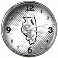 Chicago White Sox State of Mind Chrome Clock
