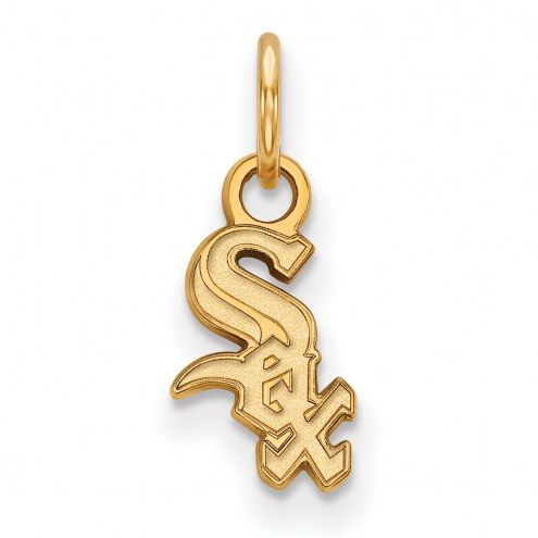 Chicago White Sox Sterling Silver Gold Plated Extra Small Pendant