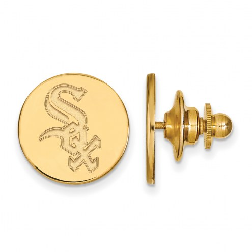 Chicago White Sox Sterling Silver Gold Plated Lapel Pin
